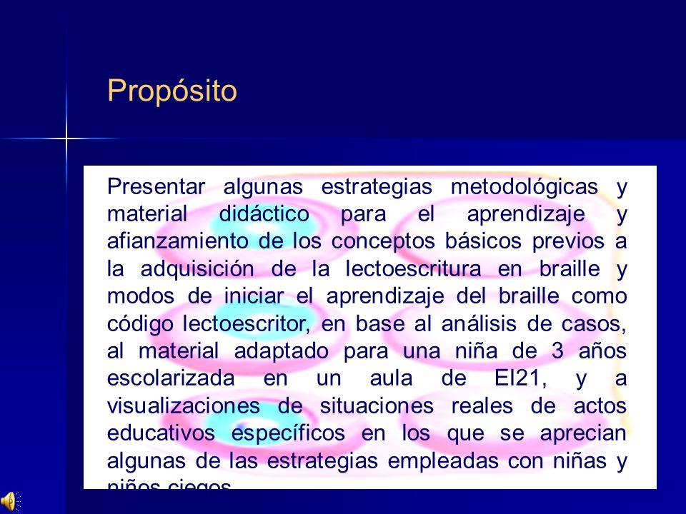 Presentar algunas estrategias metodológicas y material didáctico para el aprendizaje y afianzamiento de los conceptos básicos previos a la adquisición