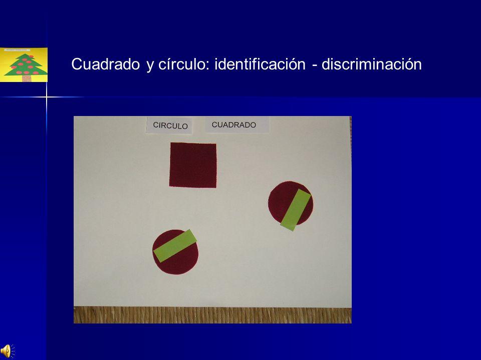 Cuadrado y círculo: identificación - discriminación