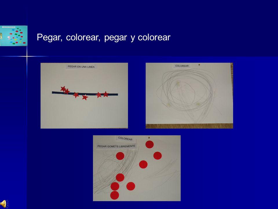 Pegar, colorear, pegar y colorear