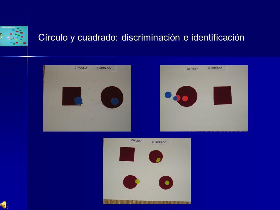 Círculo y cuadrado: discriminación e identificación