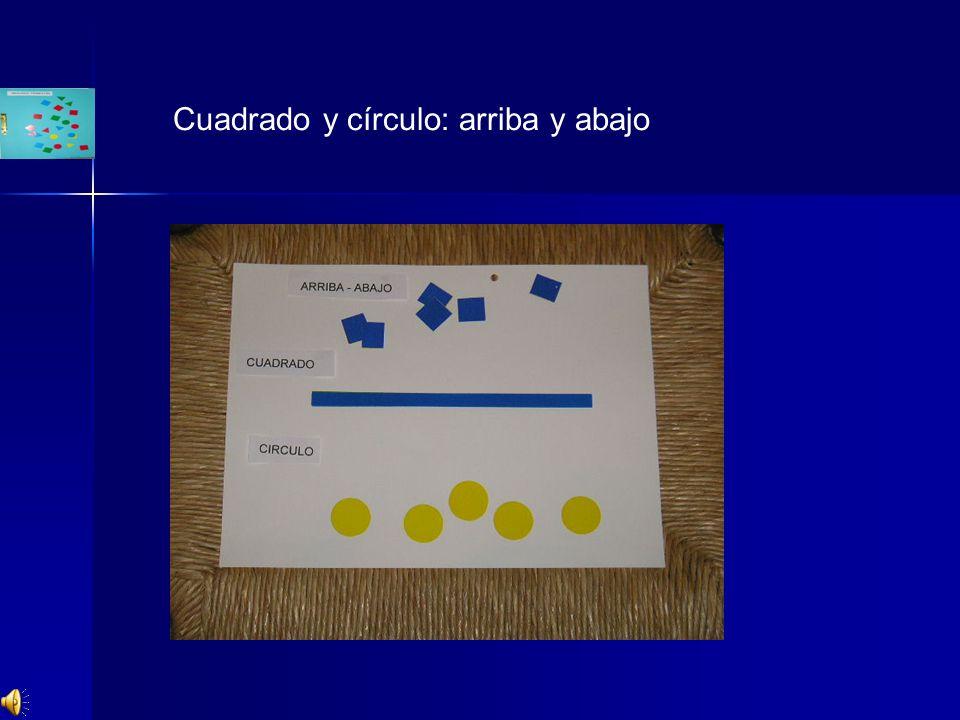 Cuadrado y círculo: arriba y abajo
