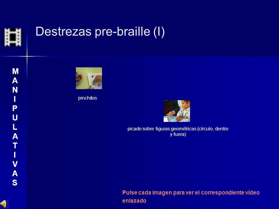 Destrezas pre-braille (I) pinchitos picado sobre figuras geométricas (círculo, dentro y fuera) Pulse cada imagen para ver el correspondiente vídeo enl