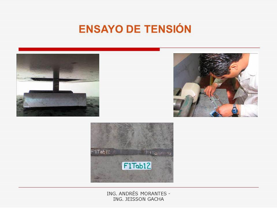 ING. ANDRÉS MORANTES - ING. JEISSON GACHA ENSAYO DE TENSIÓN