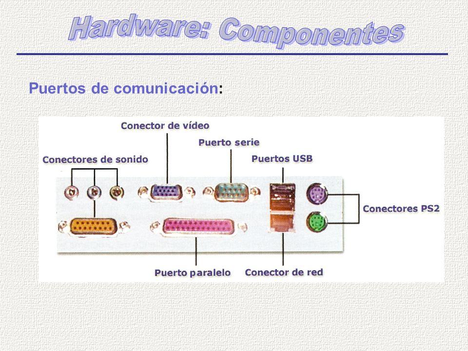 Puertos de comunicación: