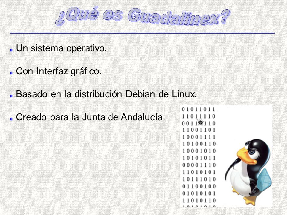 Un sistema operativo.Con Interfaz gráfico. Basado en la distribución Debian de Linux.