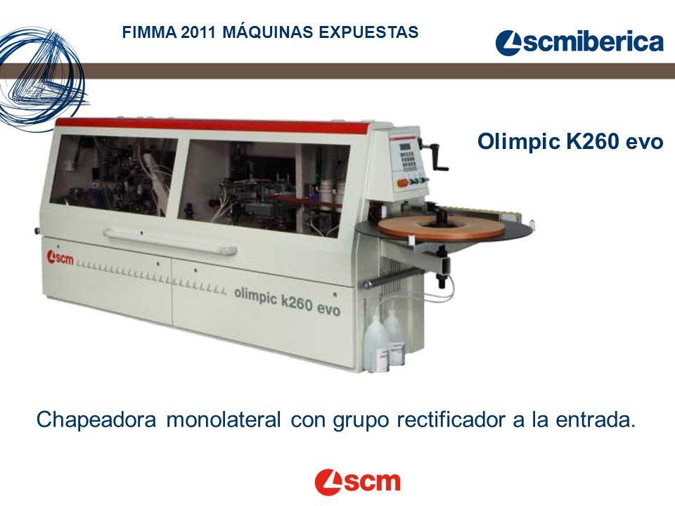 Olimpic K260 evo Chapeadora monolateral con grupo rectificador a la entrada.