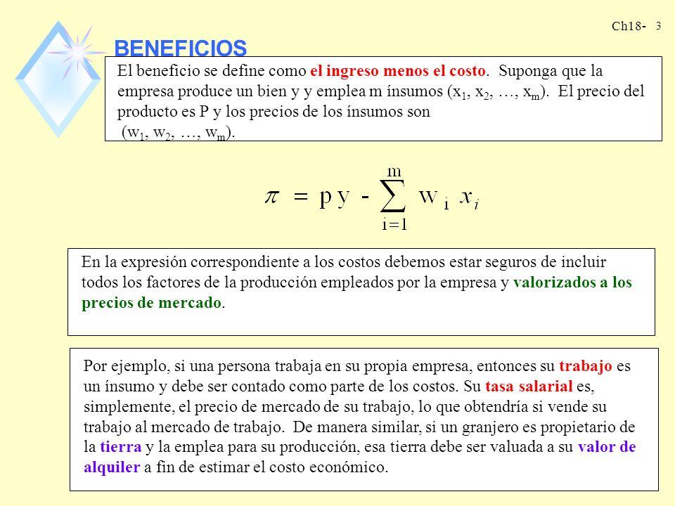 Ch18- 2 INTRODUCCIÓN nEn este capítulo vamos a describir un modelo acerca de cómo la empresa decide la cantidad a producir y el método de producción a