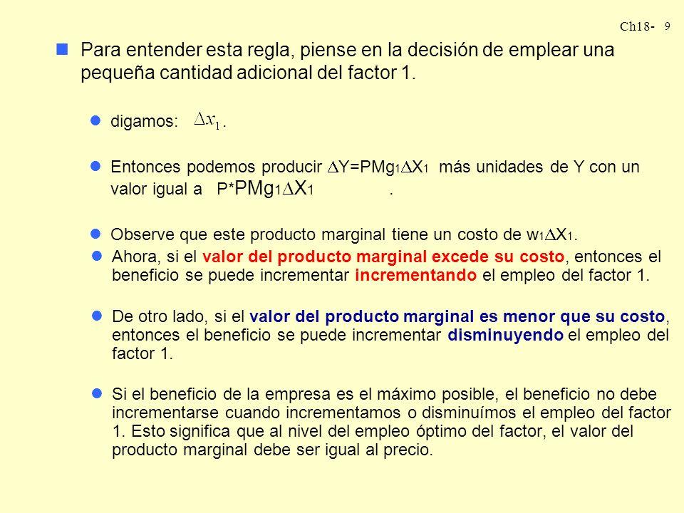 Ch18- 8 MAXIMIZACIÓN DEL BENEFICIO EN EL CORTO PLAZO nVamos a considerar el problema de la maximización del beneficio en el corto plazo en el caso en