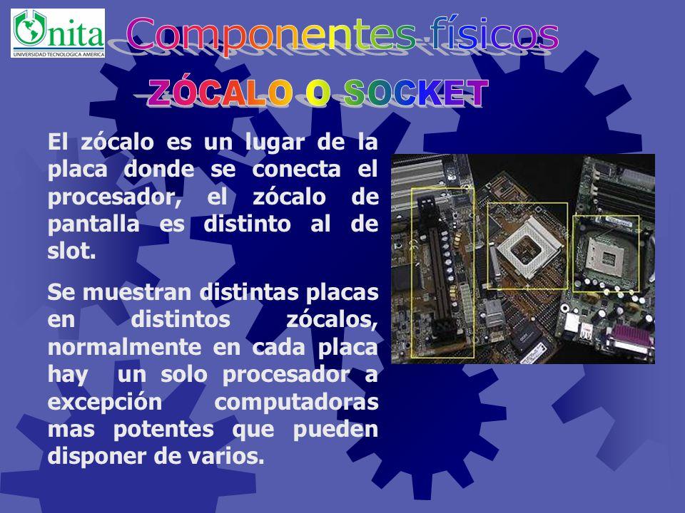 Es uno de los elementos más importantes, a él se conectan todos componentes del computador. Físicamente es una lámina fina fabricada con materiales si