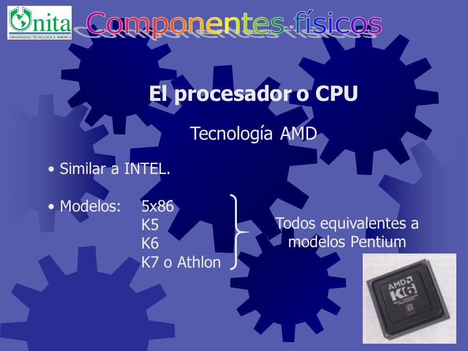 Presente en ordenadores MacIntosh y Sun. Modelos:680x0 (68000, …, 68020, …) MPC (Power PC diseñada para multimedios) G3, G4 El procesador o CPU Tecnol
