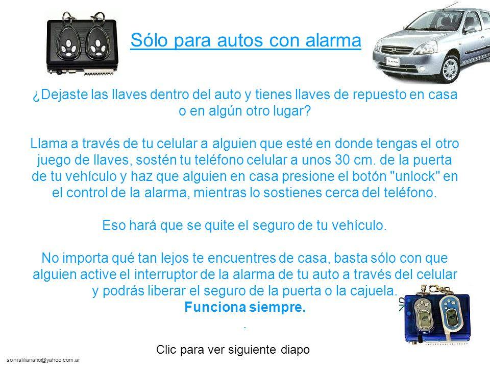sonialilianafio@yahoo.com.ar ¿Dejaste las llaves dentro del auto y tienes llaves de repuesto en casa o en algún otro lugar.