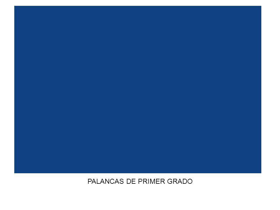 PALANCAS DE PRIMER GRADO