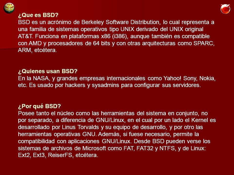 ¿Que es BSD.