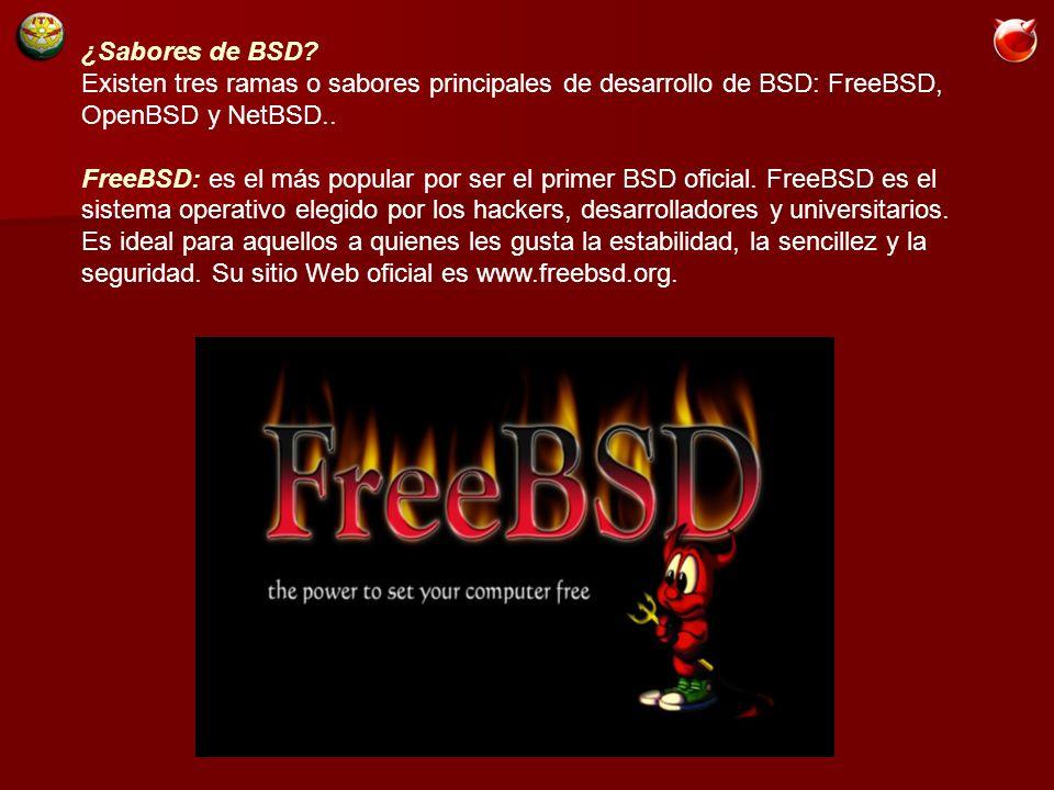¿Sabores de BSD.