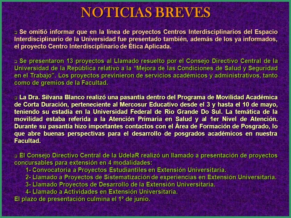 CONTENIDO NOTICIAS BREVES EQUIPO PARA INVESTIGACIÓN ESPACIO MULTIFUNCIONAL 80 AÑOS DE LA FACULTAD DE ODONTOLOGÍA PREMIO A LA INVESTIGACIÓN 80 AÑOS DE LA FACULTAD DE ODONTOLOGÍA