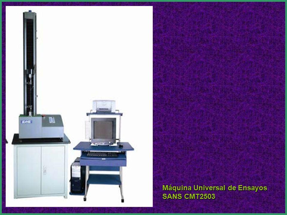 EQUIPO PARA INVESTIGACIÓN Se recibió una máquina universal de ensayos CMT2503 Marca SANS.