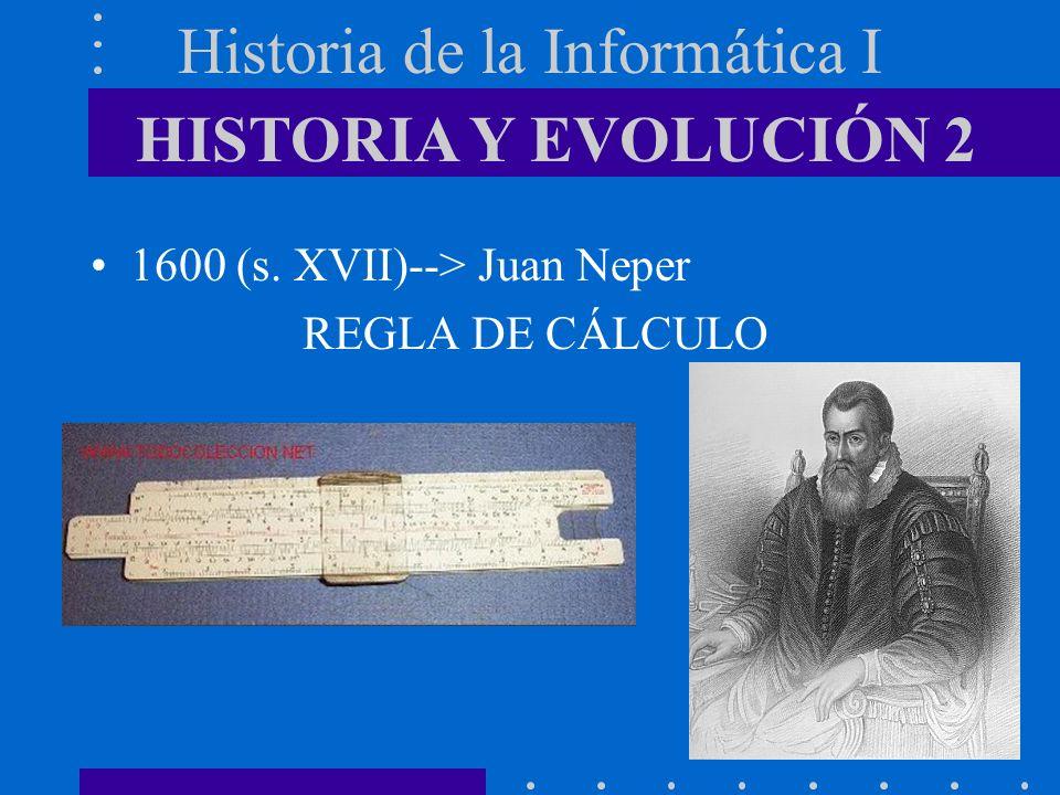 Historia de la Informática I 1800 (S.