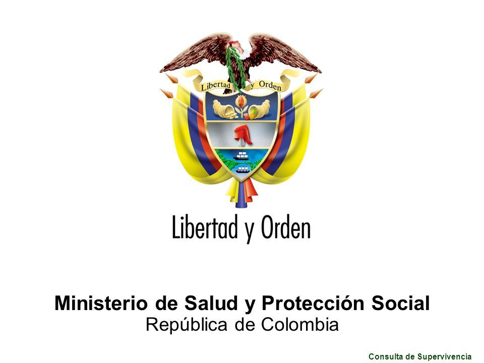 Consulta de Supervivencia Ministerio de Salud y Protección Social República de Colombia