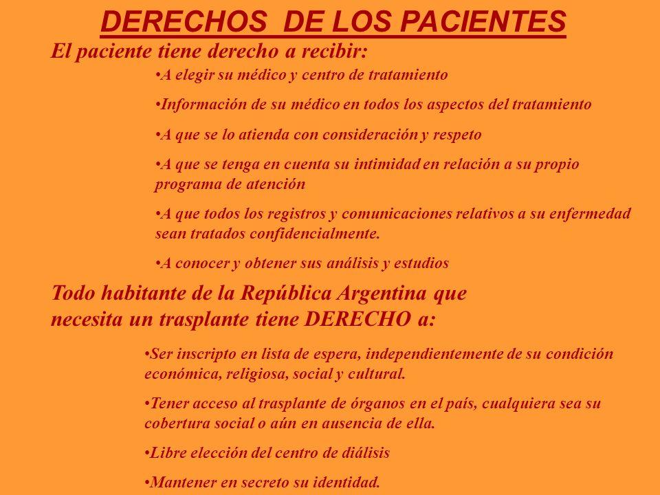 DERECHOS DE LOS PACIENTES El paciente tiene derecho a recibir: A elegir su médico y centro de tratamiento Información de su médico en todos los aspect