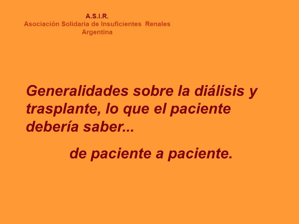 INSUFICIENCIA RENAL A.S.I.R.