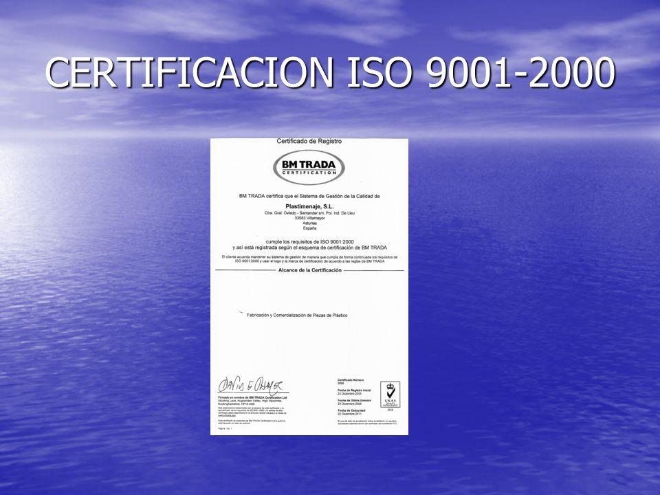 CERTIFICACION ISO 9001-2000