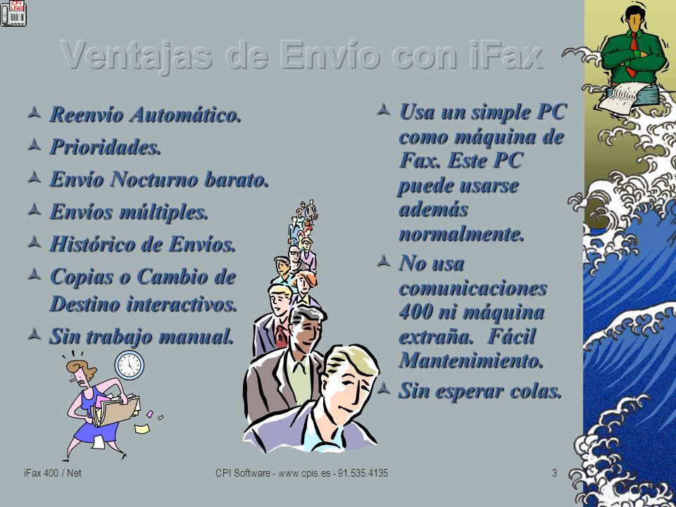 iFax 400 / NetCPI Software - www.cpis.es - 91.535.41352 Notas Simples Directas.