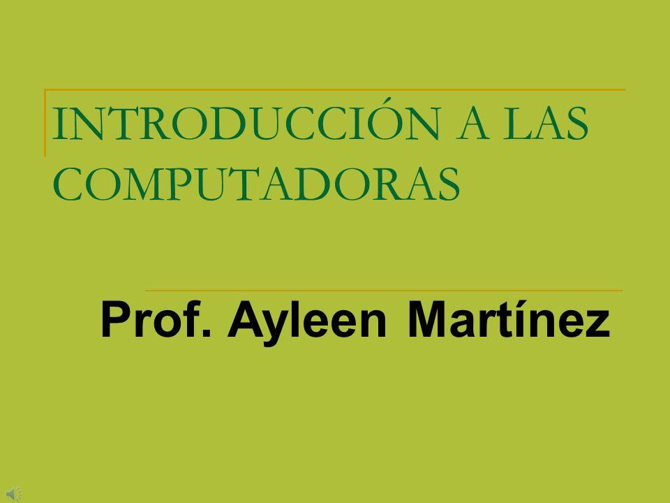 INTRODUCCIÓN A LAS COMPUTADORAS Prof. Ayleen Martínez