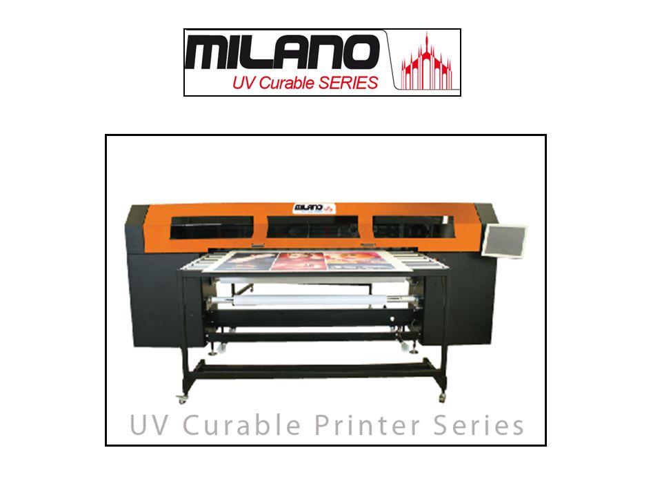 Puntos a destacar Plotter de impresión UV con posibilidad de impresión en rollo (bobina) con recogedor o en mesa plana directamente.
