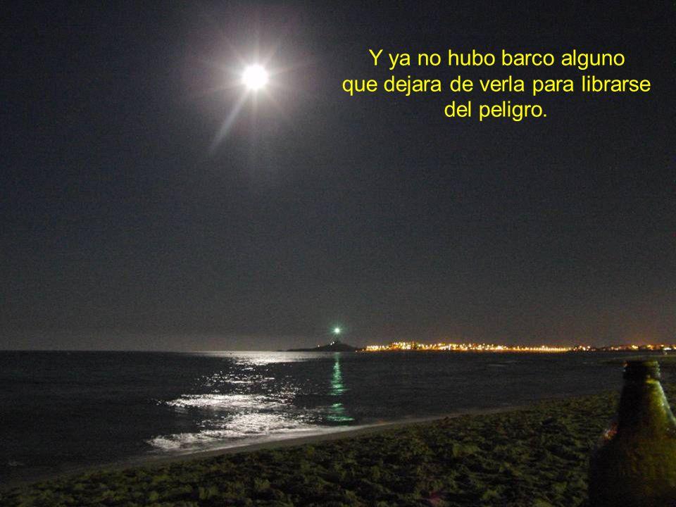 Se llenó de tanta alegría al saber para qué servía, que su luz se volvió a encender y fue la más brillante de todos los mares.