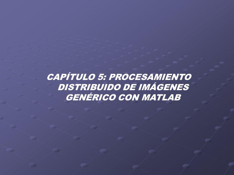 CAPÍTULO 5: PROCESAMIENTO DISTRIBUIDO DE IMÁGENES GENÉRICO CON MATLAB
