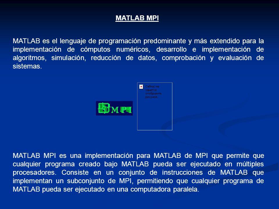 MATLAB es el lenguaje de programación predominante y más extendido para la implementación de cómputos numéricos, desarrollo e implementación de algori