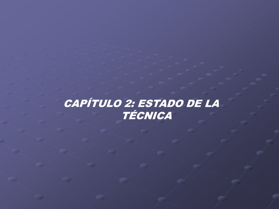 CAPÍTULO 2: ESTADO DE LA TÉCNICA