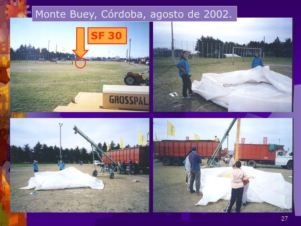 27 Monte Buey, Córdoba, agosto de 2002. SF 30