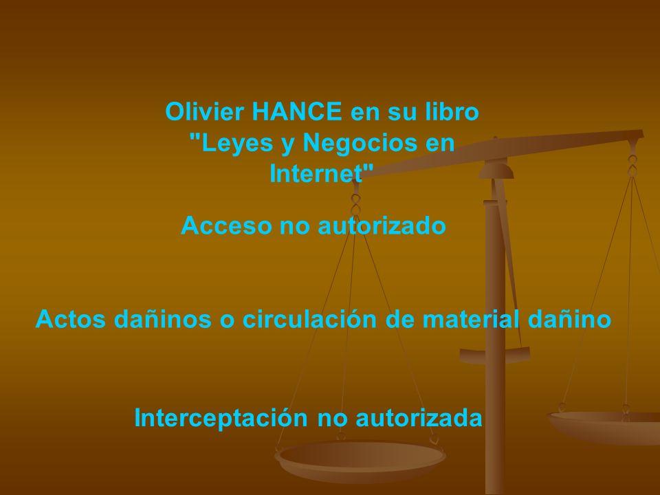 Olivier HANCE en su libro