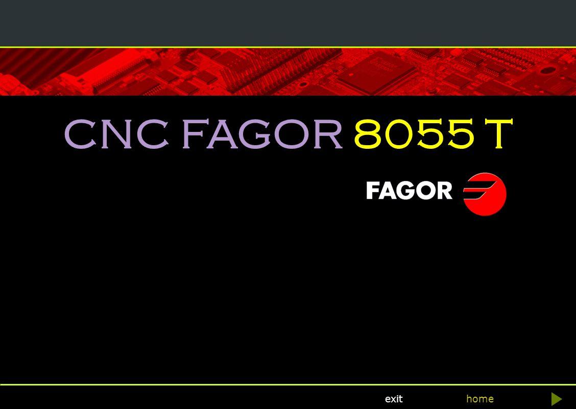 CNC FAGOR 8055 T home Fagor Automation exit CNC FAGOR 8055 T