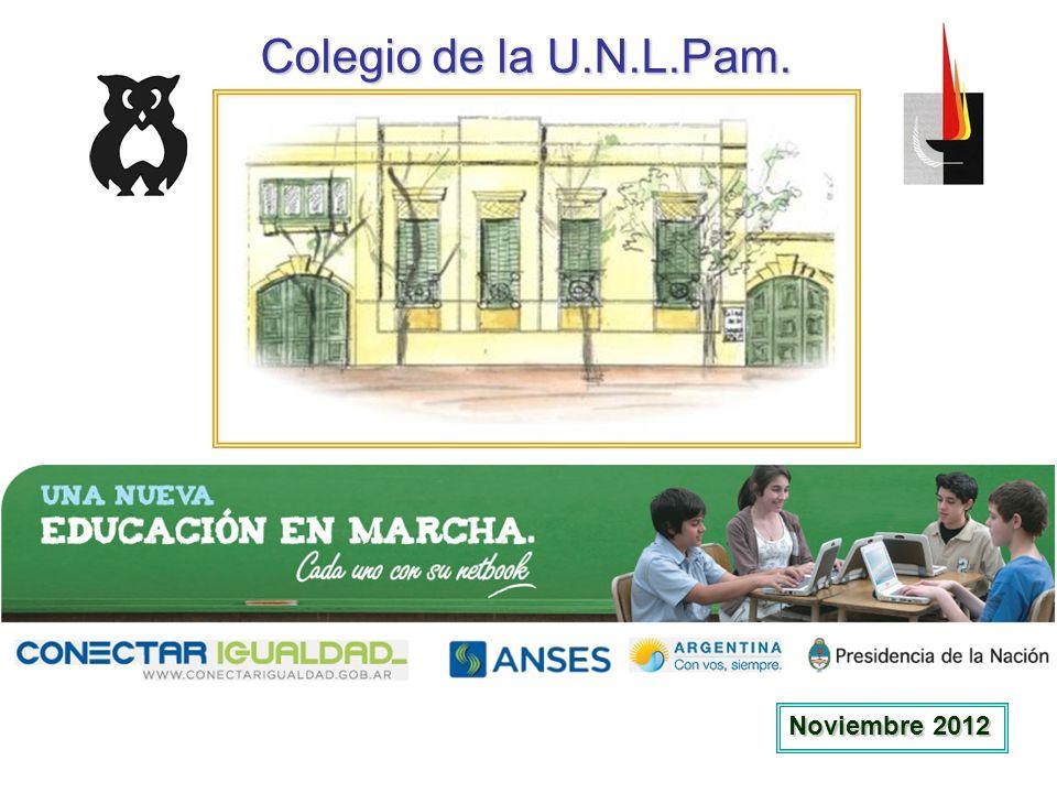 Colegio de la U.N.L.Pam. Noviembre 2012