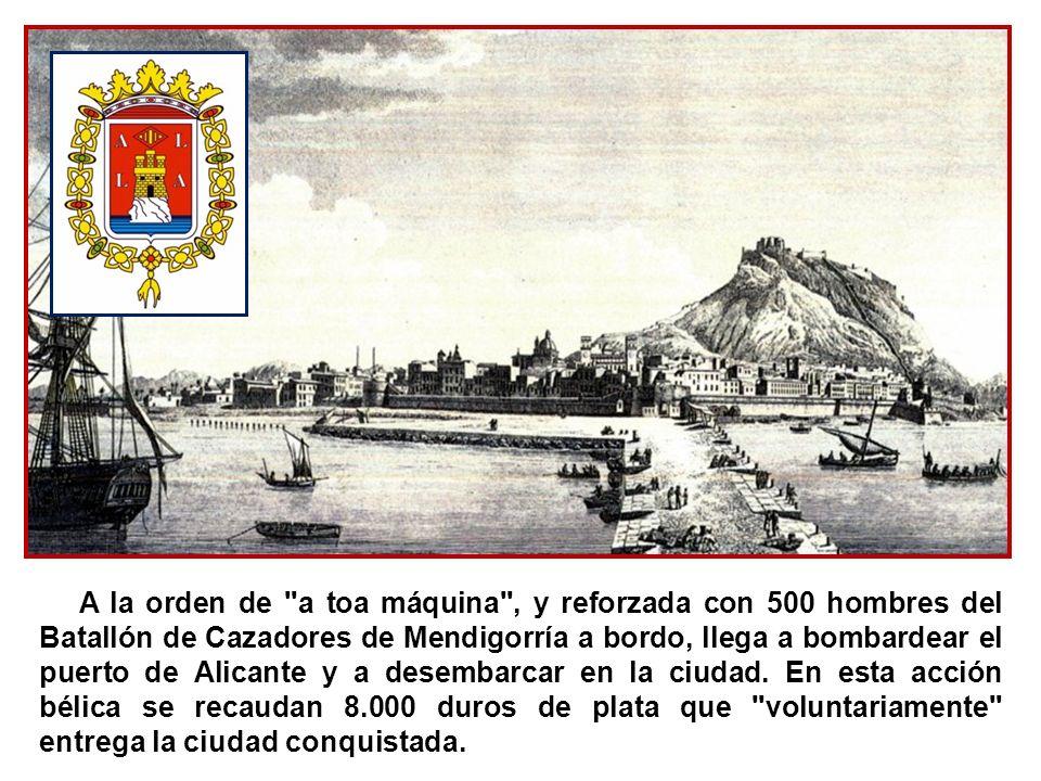 Los cartageneros, con el armamento del arsenal y con su flota, resisten el ataque de las fuerzas del Gobierno. La armada cantonalista, mandada por el