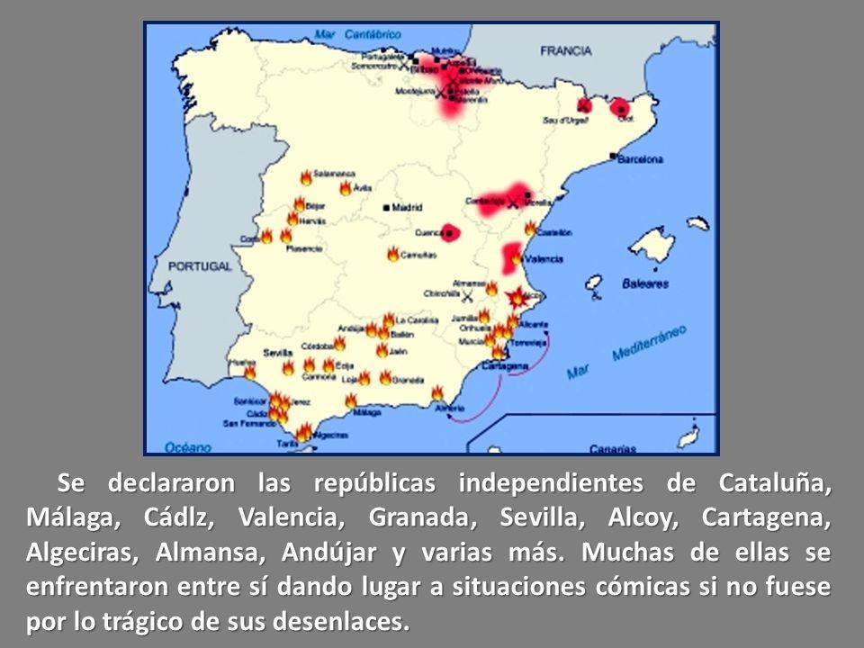 El Presidente federalista de la Primera Repúbllca Española, Pi y Margall, estuvo a punto de romper la unidad de España al reflejar y sancionar en la C