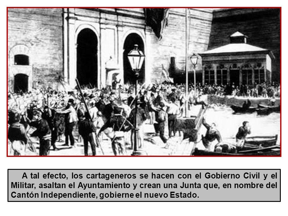 Ante ese estado de cosas Cartagena decide ser neutral entre Jumilla y Murcia y se declara a su vez Cantón Independiente y Soberano.