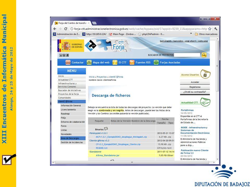 XIII Encuentros de Informática Municipal Alange, 24 y 25 de Mayo de 2012