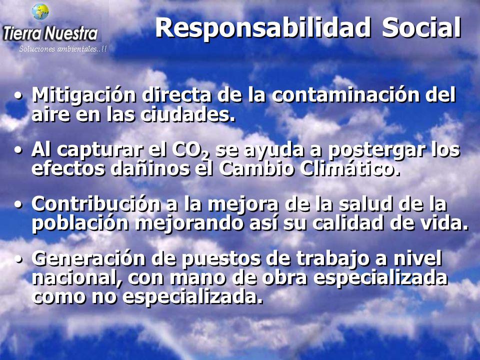 Responsabilidad Social Mitigación directa de la contaminación del aire en las ciudades.