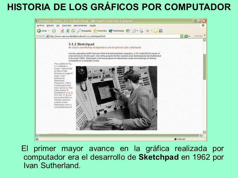 Los gráficos realizados por computador representan el campo de la informática visual, donde se utilizan computadoras, tanto para generar imágenes visu