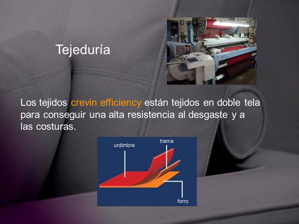 Tejeduría Los tejidos crevin efficiency están tejidos en doble tela para conseguir una alta resistencia al desgaste y a las costuras.