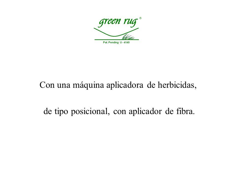 Los herbicidas se pueden aplicar en forma posicional y las malezas se matan en vez de podarlas.