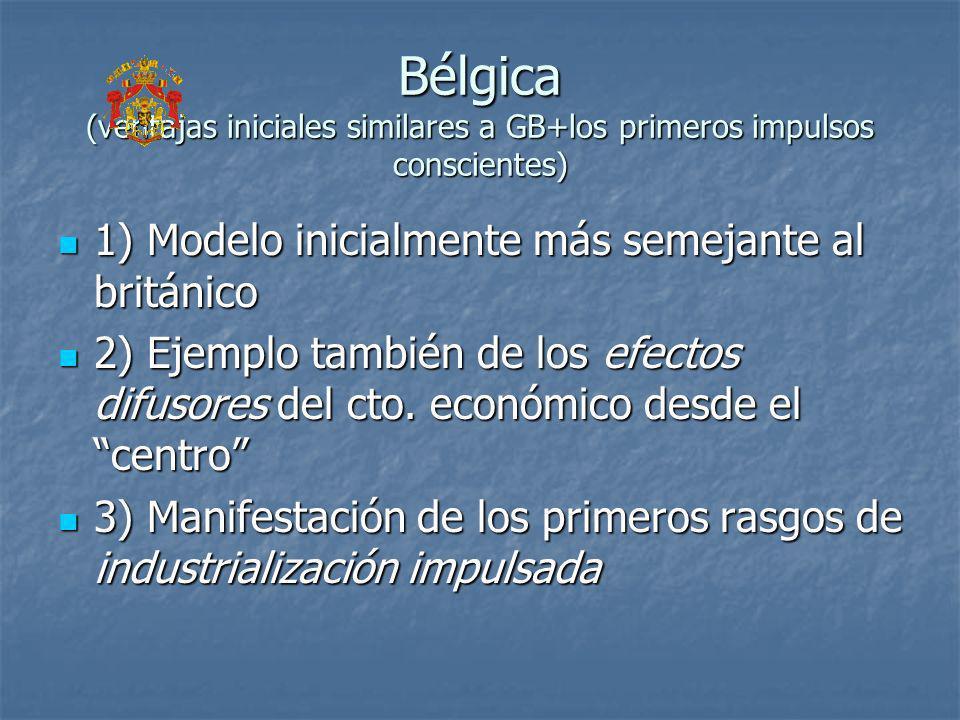 Bélgica (ventajas iniciales similares a GB+los primeros impulsos conscientes) 1) Modelo inicialmente más semejante al británico 1) Modelo inicialmente