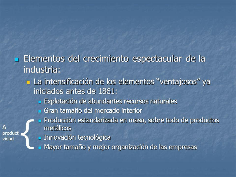 Elementos del crecimiento espectacular de la industria: Elementos del crecimiento espectacular de la industria: La intensificación de los elementos ve