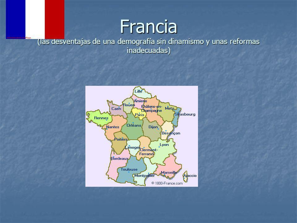 Francia (las desventajas de una demografía sin dinamismo y unas reformas inadecuadas)