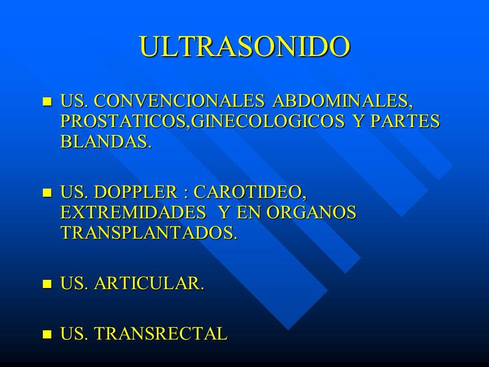 ULTRASONIDO US. CONVENCIONALES ABDOMINALES, PROSTATICOS,GINECOLOGICOS Y PARTES BLANDAS. US. CONVENCIONALES ABDOMINALES, PROSTATICOS,GINECOLOGICOS Y PA