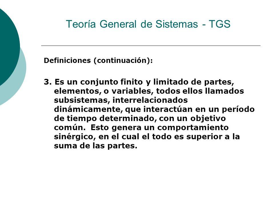 Definiciones (continuación): 3.