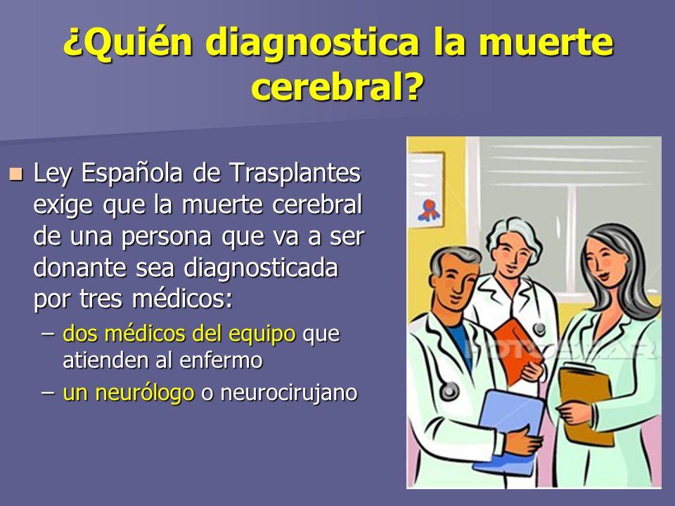 ¿Quién diagnostica la muerte cerebral.